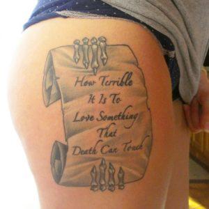 Scrolls Tattoo
