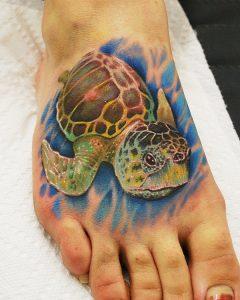 Sea Turtle Foot Tattoos
