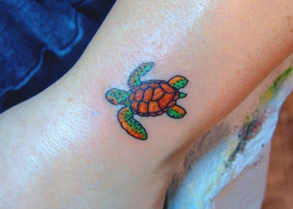 baby sea turtle foot tattoo the image kid has it. Black Bedroom Furniture Sets. Home Design Ideas