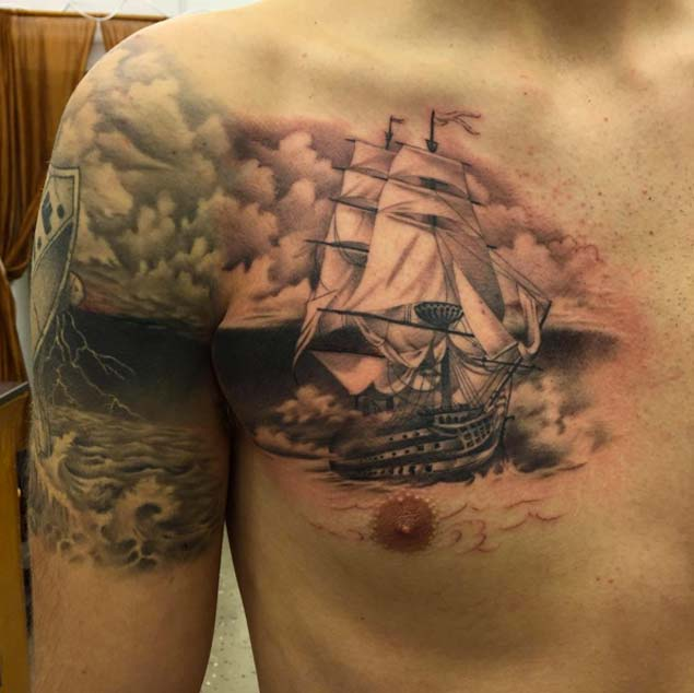 Ship Tattoos Designs, Ideas and Meaning | Tattoos For You