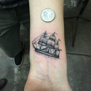 Ship Tattoo Small