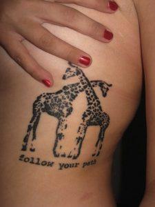 Simple Giraffe Tattoo