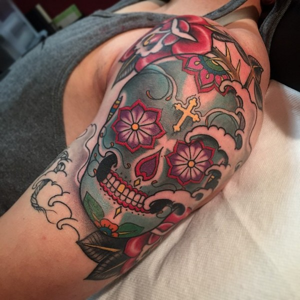 Candy Skull Tattoos Designs Ideas And Meaning Tattoos