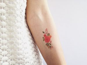 Small Floral Tattoo