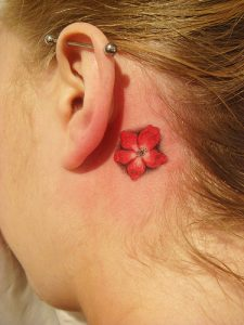 Small Hawaiian Flower Tattoos