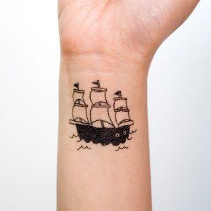 Small Ship Tattoo