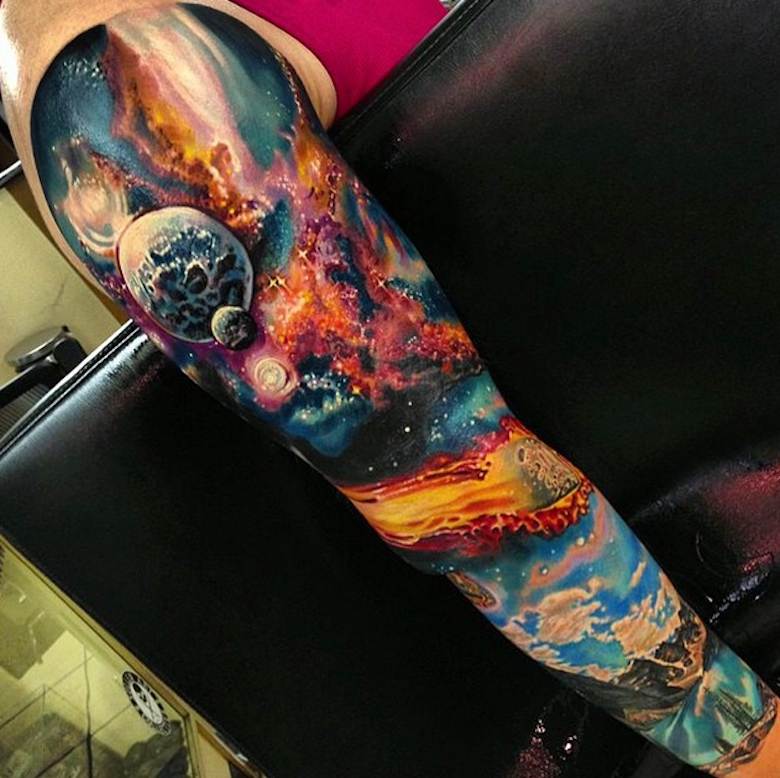 Space Tattoos Designs, Ideas And Meaning