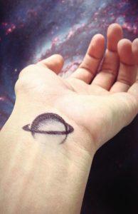 Space Tattoos on Wrist