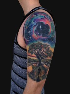 Space Themed Tattoo