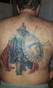 Spartan Tattoo on Back
