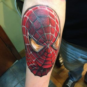 Spiderman Face Tattoo