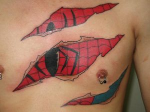 Spiderman Skin Tattoo