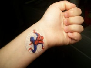 Spiderman Tattoo Small