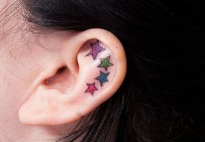 Star Ear Tattoos