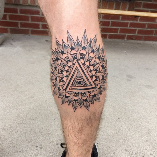 Male Calf Tattoo Designs