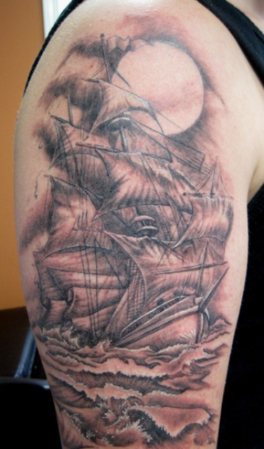 Pirate Ship Tattoos Designs Ideas And Meaning Tattoos For You