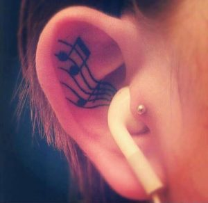 Tattoo in Ear