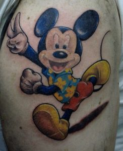 Tattoo of Mickey Mouse