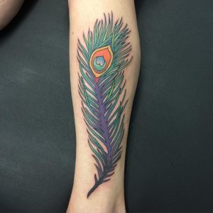 Tattoo of Peacock Feather