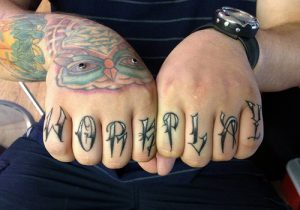Tattoo on Knuckles