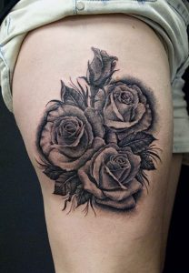 Tattoos of Black Roses
