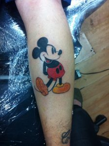 Tattoos of Mickey Mouse
