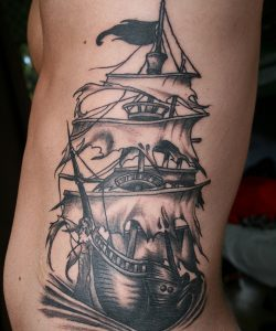 Tattoos of Pirate Ships