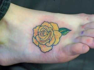 Tattoos of Yellow Roses