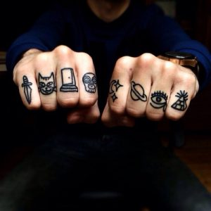 Tattoos on Knuckles