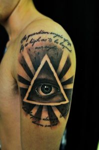 Third Eye Pyramid Tattoo