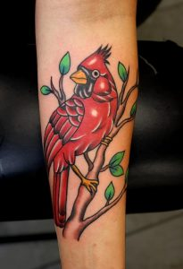 Traditional Cardinal Tattoo