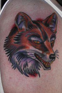 Traditional Fox Tattoo