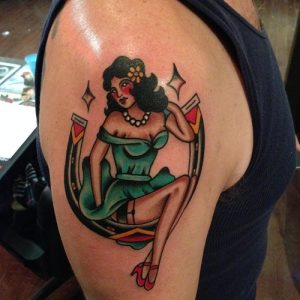 Traditional Lady Luck Tattoo