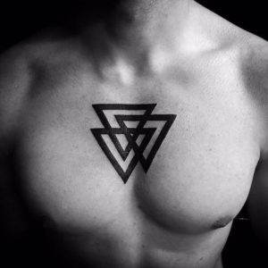 Triangle Tattoo Chest