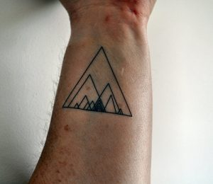 Triangle Tattoo Hipster