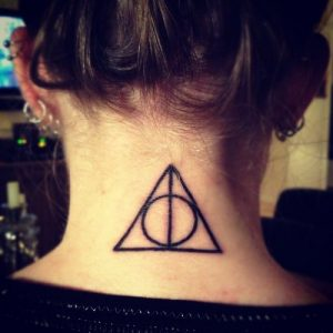 Triangle Tattoo Neck