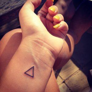 Triangle Wrist Tattoo