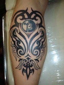 Tribal Calf Tattoos