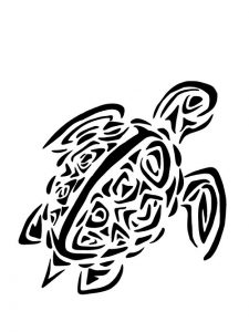 Tribal Sea Turtle Tattoos