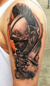 Warrior Armor Tattoo