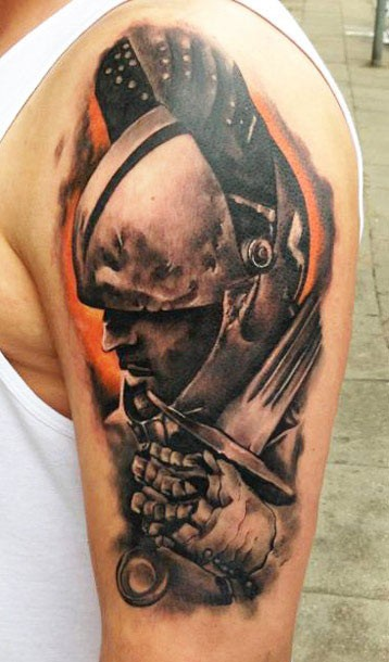 Roman Shoulder Armor Tattoo