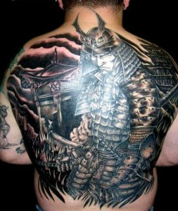 Warrior Back Tattoos
