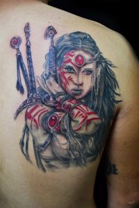 Warrior Woman Tattoo