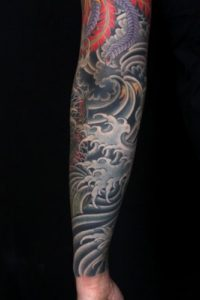 Wave Sleeve Tattoo
