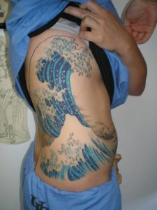 Wave Tattoo on Side