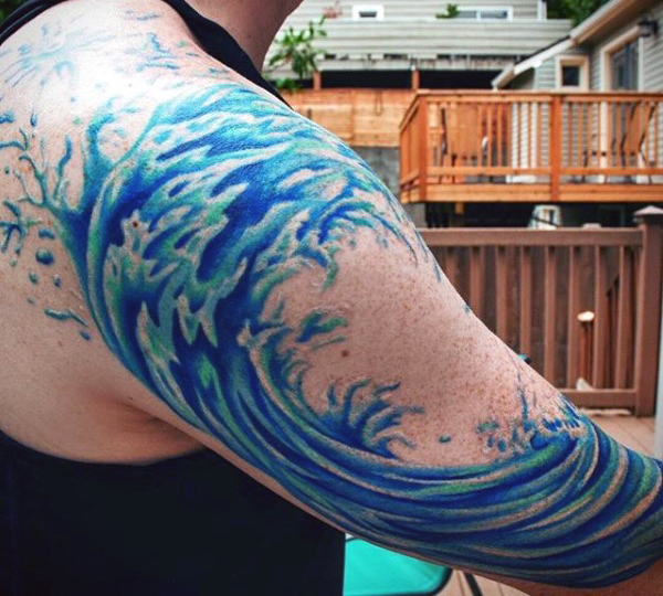 b1e8aee12 Wave Tattoos Designs, Ideas and Meaning | Tattoos For You