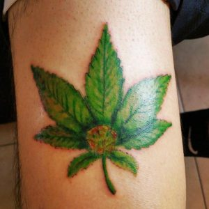 Weed Plant Tattoos