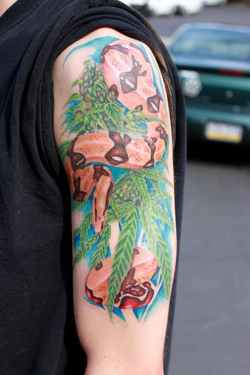 Weed tattoos designs ideas and meaning tattoos for you for Weed tattoo images