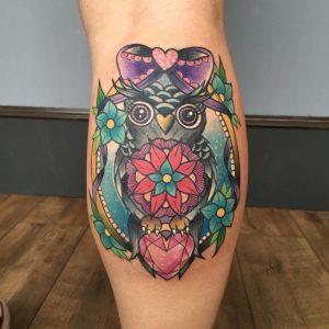 Women Calf Tattoos