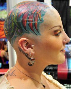 Women Head Tattoos